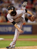 Texas Rangers v San Francisco Giants  Game 5:  Starting pitcher Tim Lincecum