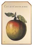 Ceci n'est pas une pomme Reproduction d'art par Rene Magritte