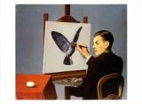 La Clairvoyance Reproduction d'art par Rene Magritte