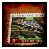 Cameleon Stamp