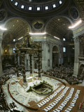 Candidates for Priesthood Lie Prostrate before St Peter's High Altar