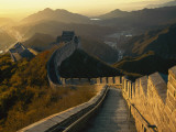 A Backlit View of the Great Wall of China at Juyongguan