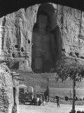 The Great Buddha Statue Carved into a Cliff at Bamian