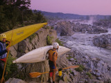 Kayakers Preparing to Ride the Potomac River at Great Falls