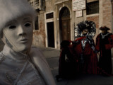 Venetians Walking around Piazza San Marco in Costume During Carnival