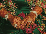A Bride's Hands Respendent with Jewels and Decorated with Henna