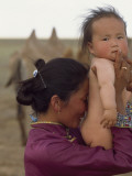A Mongolian Mother and Baby