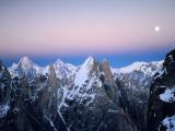 Moonrise over the Golden Throne and the Gasherbrum Massif Beyond