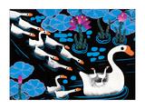 Fourteen Swans