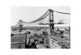 Manhattan Bridge Construction  c1909