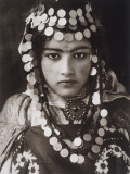 An Algerian Girl Wears a Dowry of Gold Coins