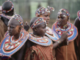 A Group Portrait of Masai Women in Native Costume