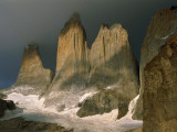 Sharp  Towering Mountain Peaks in Torres Del Paine  Chile