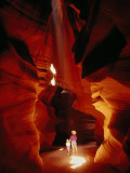 A Mother and Child Marvel at the Wonders of Antelope Canyon