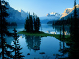 Scenic View of Maligne Lake in Jasper National Park in Canada