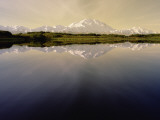 Mount Denali and Alaska Range Reflected in Pond in the Morning Light