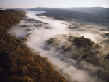 Fog Hugging the Delaware River Valley in Pennsylvania