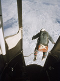 A Man Leaps from a Balloon Gondola at an Altitude of 102 800 Feet