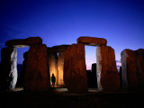 Twilight View of the Ruins of Stonehenge
