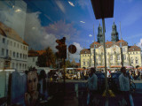 A Window Reflection of Luneburg's Town Hall