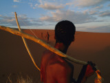 A San Tribesman with His Bow and Arrow
