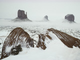 Snow and Fog Shrouded Needles Mountains