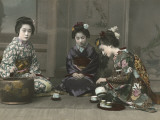 Geishas Perform a Tea Ceremony
