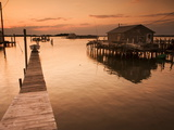Docks and Boathouses in Tylerton on Smith Island  Chesapeake Bay