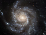 The Messier 101  or Pinwheel  Galaxy Spins in Pixel Perfection