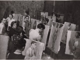 Students Practicing Painting Nudes