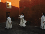 Novice Nuns Play Ball at the Monastery