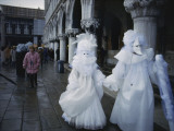 Carnival Goers on the Streets of Venice