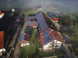 A Farm in Bavaria with Solar Photovoltaic Panels Operates Efficiently