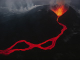 This Active Fissure Spewed Lava and Created Molten Rivers in May 1989
