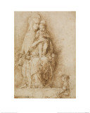 The Virgin and Child Enthroned with an Angel