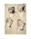 Four Studies of a Young Woman's Head