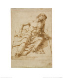 Man Lying on a Stone Slab