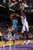 New Orleans Hornets v Sacramento Kings: Chris Paul and Samuel Dalembert