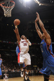 Oklahoma City Thunder v Toronto Raptors: James Harden and Leandro Barbosa