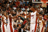 Washington Wizards v Miami Heat: Dwyane Wade and Chris Bosh