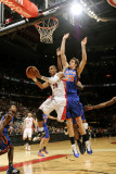 New York Knicks v Toronto Raptors: Leandro Barbosa and Timofey Mosgov