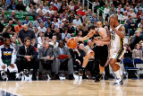 San Antonio Spurs v Utah Jazz: Raja Bell and Manu Ginobili