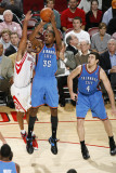 Oklahoma City Thunder v Houston Rockets: Kevin Durant and Shane Battier