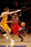 Chicago Bulls v Los Angeles Lakers: Luol Deng and Pau Gasol