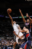 Atlanta Hawks v San Antonio Spurs: George Hill  Mike Bibby and Al Horford