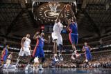 Detroit Pistons v Dallas Mavericks: Brendan Haywood and Ben Gordon