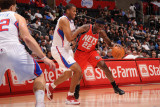 New Jersey Nets v Los Angeles Clippers: Anthony Morrow and Jarron Collins