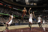 Miami Heat v Cleveland Cavaliers: Daniel Gibson  Mario Chalmers and James Jones