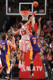 Los Angeles Lakers v Chicago Bulls: Joakim Noah and Matt Barnes