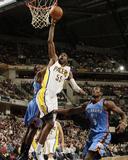 Oklahoma City Thunder v Indiana Pacers: Roy Hibbert and Serge Ibaka
